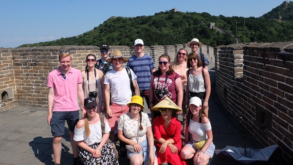 Cardiff University Chamber Choir on the Great Wall of China