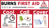First aid for burns magnet