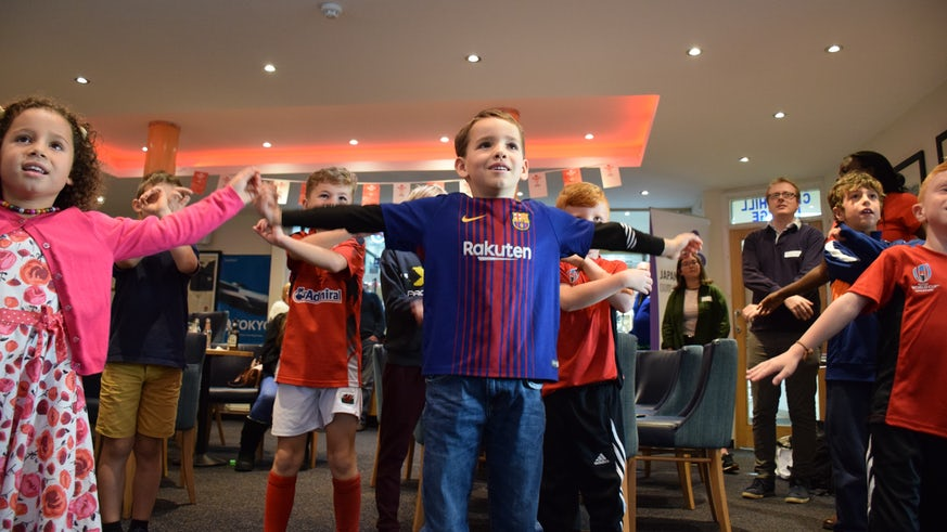 Young rugby fans experience