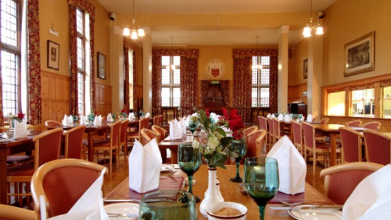 Large dining room in Aberdare Hall