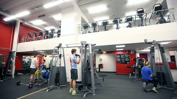 Equipment at the Fitness and Squash Centre