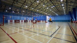 Indoor courts at the Sports Training Village