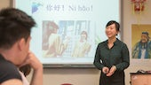 Students learning Mandarin Chinese in a classroom at Cardiff University