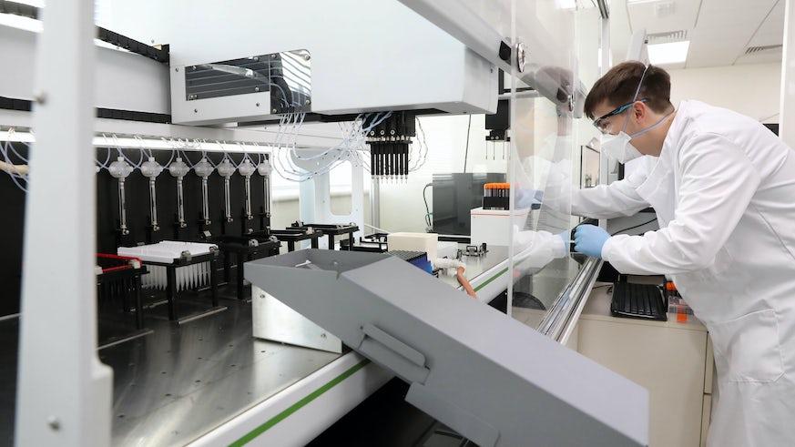 Cardiff University COVID-19 testing lab