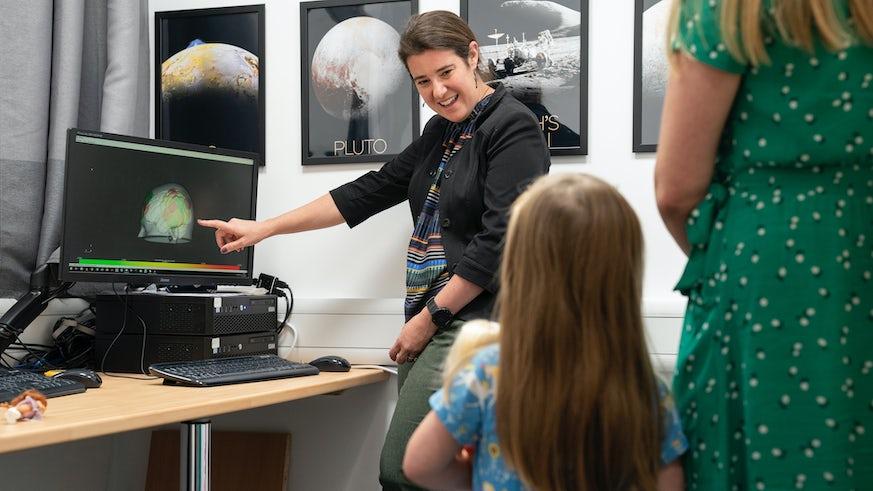 Dr Sarah Gerson with participant