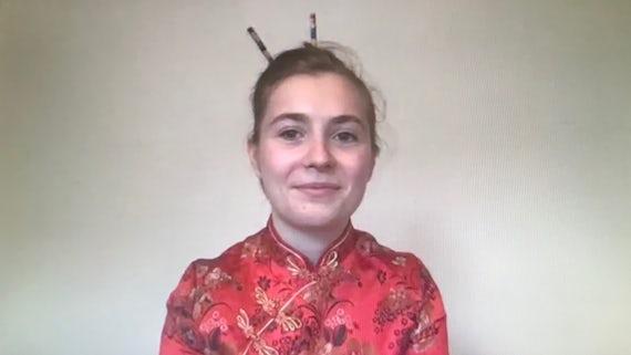 Célia Bourhis, Chinese Bridge competition 2020