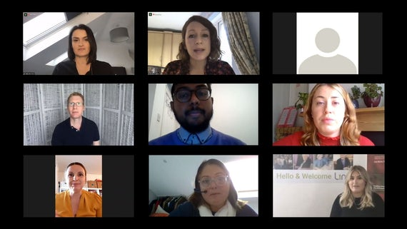 Group of people on virtual call