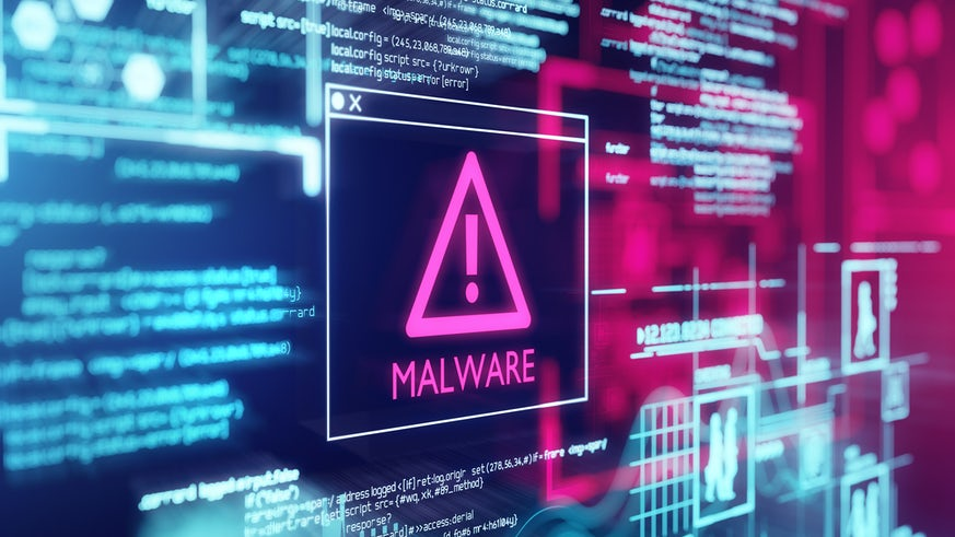Stock image of online warning sign