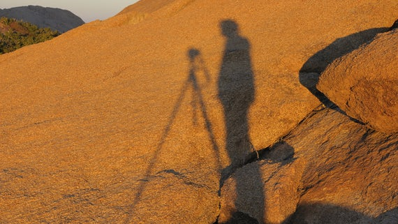 A photographer's shadow