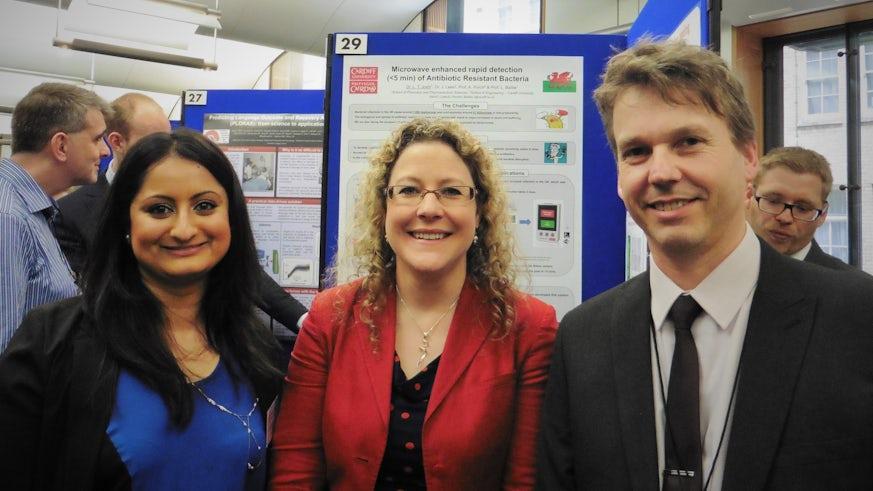 Dr Tina Joshi and Dr Jonny Lees at SET for Britain.