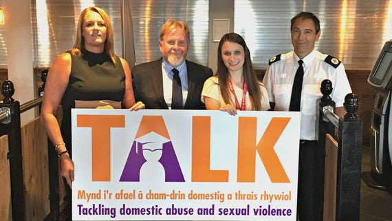 Julie Grady, John Cowley, Hollie Vice President for Welfare (Students' Union) and South Wales Police