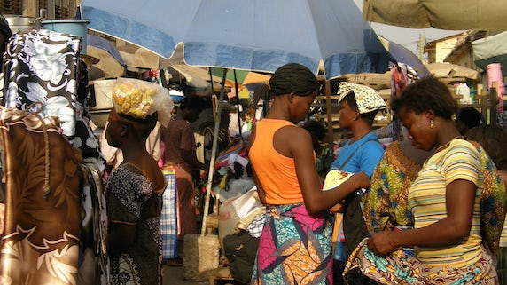 Street trading in Togo