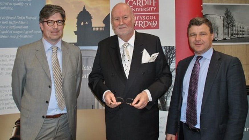 Professor Stijn Smismans,  Professor Carl Baudenbacher, President of the European Free Trade Association (EFTA) Court and Professor Jiri Priban.