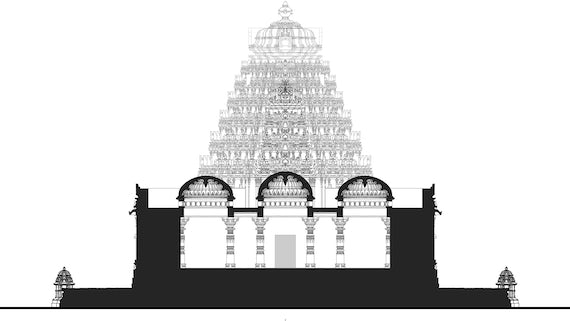 Plans for Indian temple