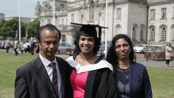 Vithiya Alphons with parents