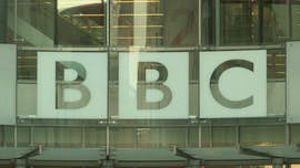 BBC logo on a window