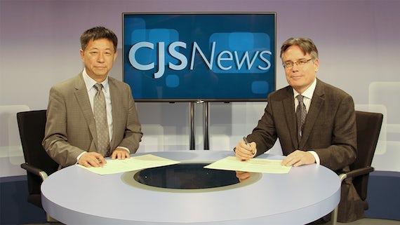 Professor Chang Liu and Professor Stuart Allan