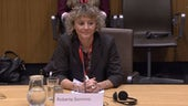 Image of Professor Roberta Sonnino giving evidence at the Senedd