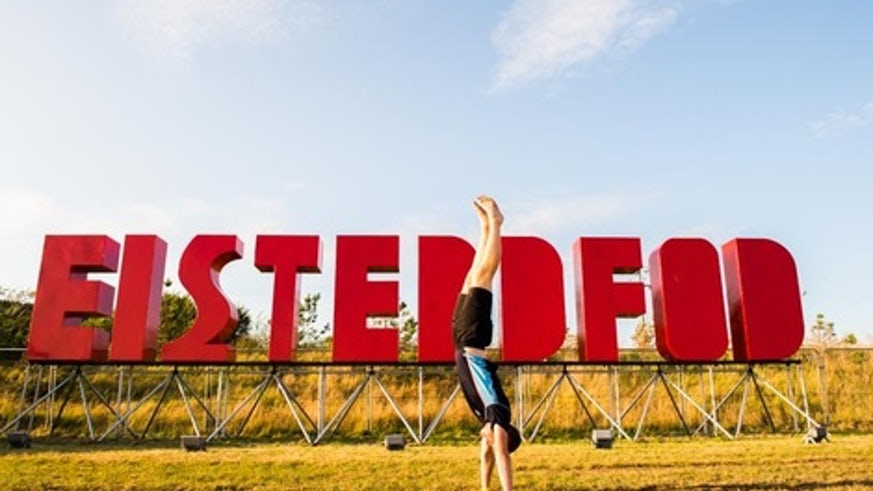 Image of large letters spelling out Eisteddfod