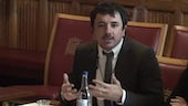 Dr Andrea Calderaro speaking at the House of Lords International Relations Committee.
