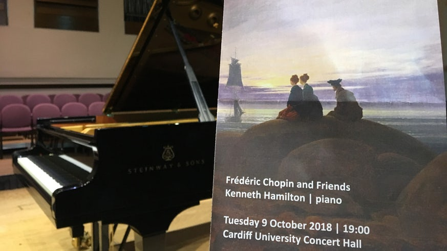 Programme for Preludes to Chopin with piano