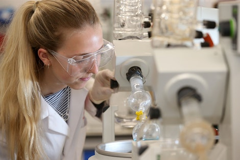 Chemistry student in laboratory