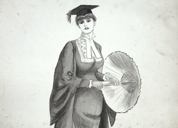 Sketch titled 'a sweet girl graduate'