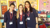Students visiting Radnor Primary School 2017
