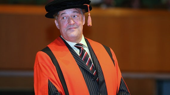 Image of Stephen Fry graduation