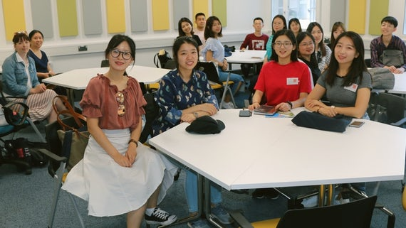 Students from Beijing Normal University studying at Cardiff University Social Work Summer School