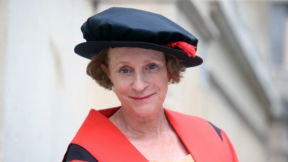 Philippa Gregory in graduation robes