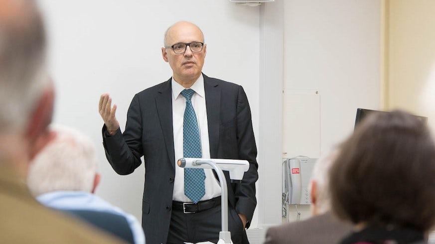 Ambassador Furgler addresses the audience