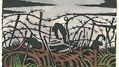 'Images of war' gan Richard Adlington, llyfr o gerddi gyda darluniau gan Paul Nash (Westminster, Llundain: Beaumont Press, 1919).