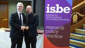 Professor Andrew Henley receiving ISBE award
