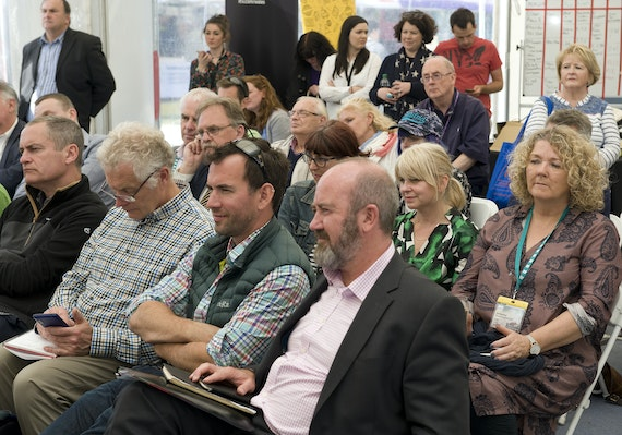 Audience members in a Cardiff University event at the Eisteddfod