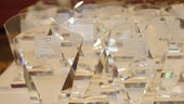 Celebrating Excellence award trophies
