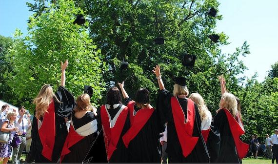 Students celebrate their graduation