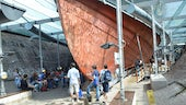 Protected hull of ss Great Britain