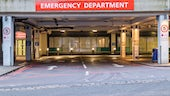 Photograph of the outside of an emergency department