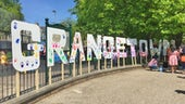 Image of large free-standing letters spelling Grangetown