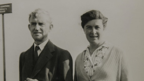 Sir Cyril and Lady Aileen Fox on a visit to Ireland in 1952
