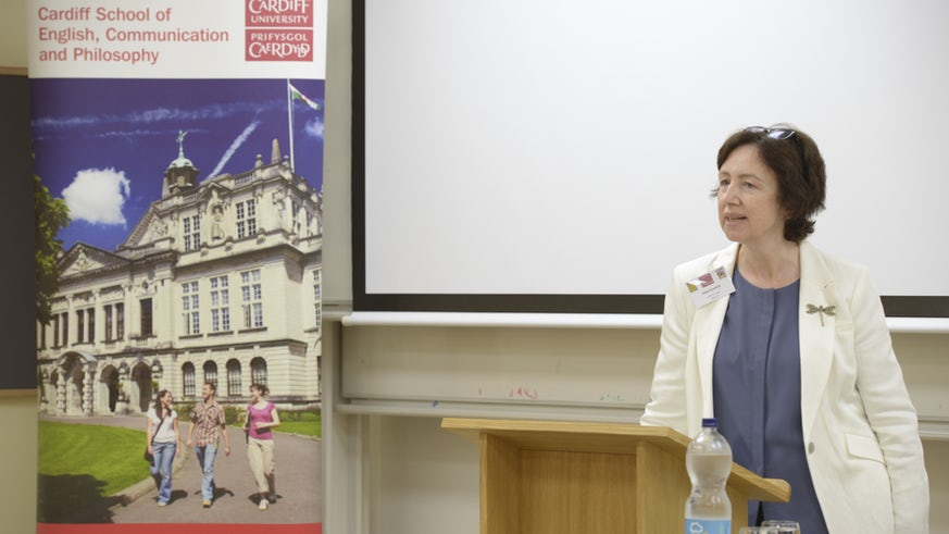 Professor Gramich speaking at a conference