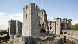 Castle ruins in Wales