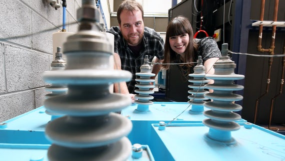 Dr Daniel Mitchard & Jennifer Gardy in the Morgan-Botti Lightning Laboratory
