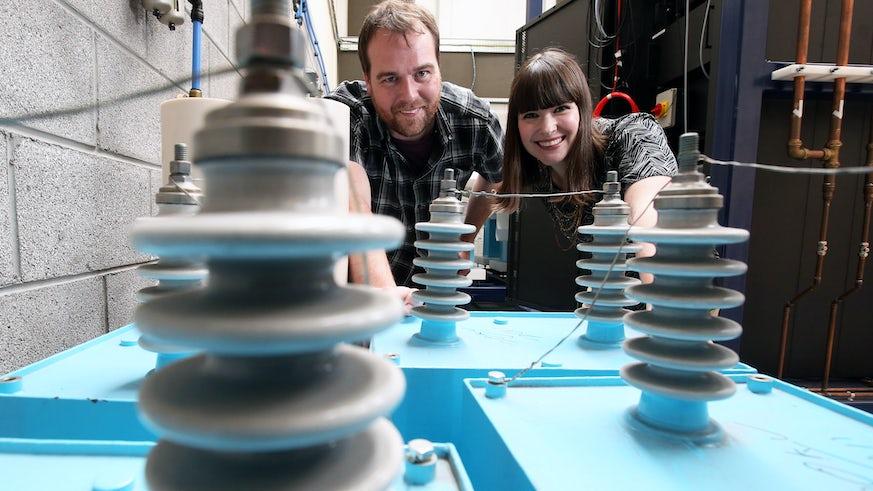 Dr Daniel Mitchard & Jennifer Gardy in the Morgan-Botti Lightning Laboratory