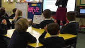 Students learn Chinese as part of Sully Primary School's China Week 2018