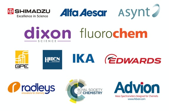 Sponsor logos of the Cardiff Chemistry Conference 2018