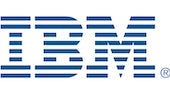 IBM Logo (The letters I,B,M in blue text)