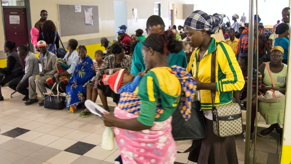 People waiting at Rundu out-patients department