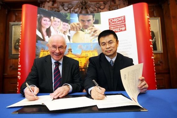 Cardiff and Peking sign MOU